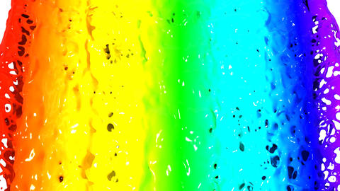 Rainbow falling on white background, HD 1080. With Stock Video Footage