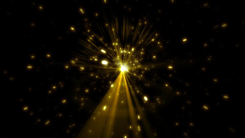 Star on a black background with flares. Seamless l Stock Video Footage