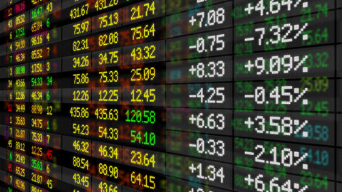 Stock Market Board Looped HD stock footage