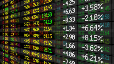 Stock Market board looped HD Stock Video Footage