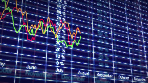 Stock Market charts in looped animation. HD 1080 Stock Video Footage