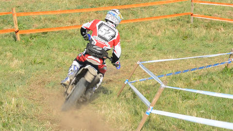 European Enduro Championship 2013 Stock Video Footage