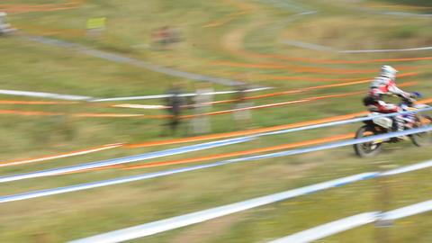 European Enduro Championship 2013 Stock Video Footage