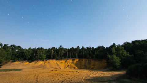 4k UHD full moon time lapse shadow sandpit tree 11 Stock Video Footage