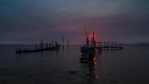 Timelapse of sunrise Footage
