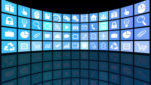 Smart Phone apps R Ac 3b 2 HD Stock Video Footage
