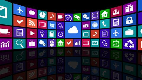 Smart Phone apps R Ac 4b 1 HD Stock Video Footage