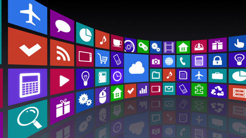 Smart Phone apps R Cc 4b 1 HD Stock Video Footage