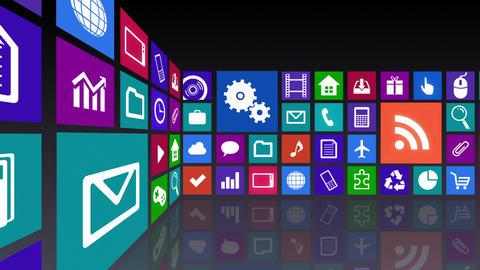 Smart Phone apps R Cs 4b 1 HD Stock Video Footage