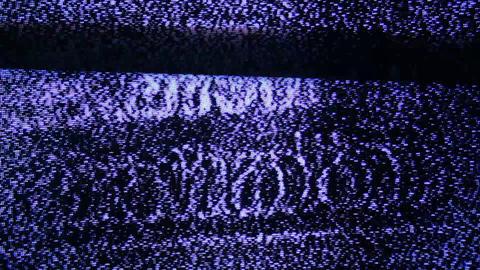 TV noise Footage