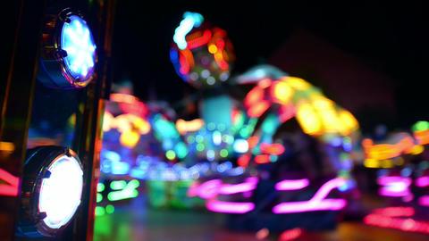 funfair oktoberfest carousel lights background 110 Stock Video Footage