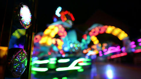 funfair oktoberfest carousel lights background 110 Stock Video Footage