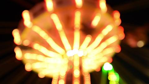 funfair oktoberfest classic carousel lights 11062 Stock Video Footage