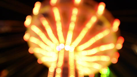 Funfair Oktoberfest Classic Carousel Lights 11062 stock footage
