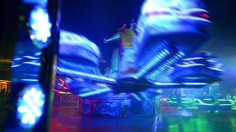 funfair oktoberfest carousel twisting 11066 Footage