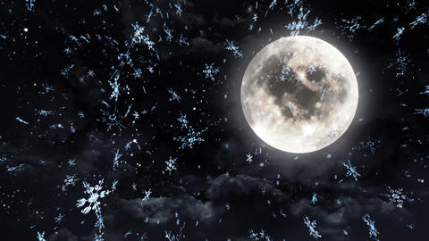 clear moon black white Stock Video Footage