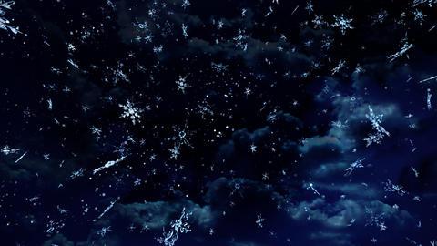 night snow falling Stock Video Footage