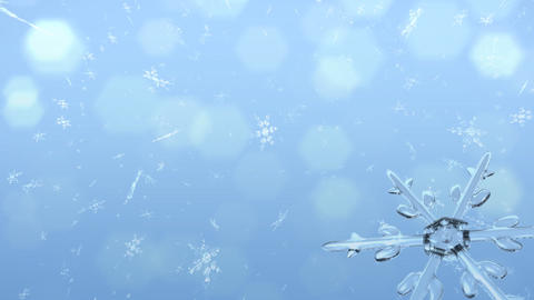 Snow Crystals right corner Stock Video Footage