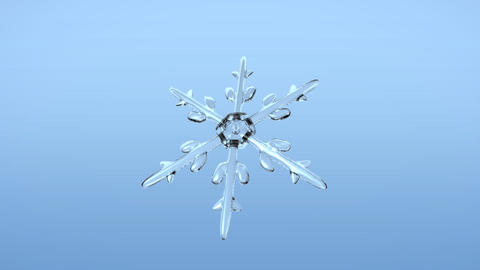 Snow Crystals single front alpha Animation