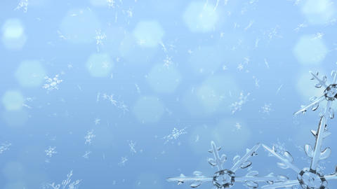 Snowflakes and Snow Crystals pattern Stock Video Footage