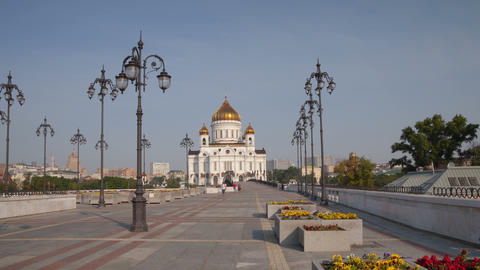 Cathedral of Christ the Saviour hyperlapse 4K Stock Video Footage