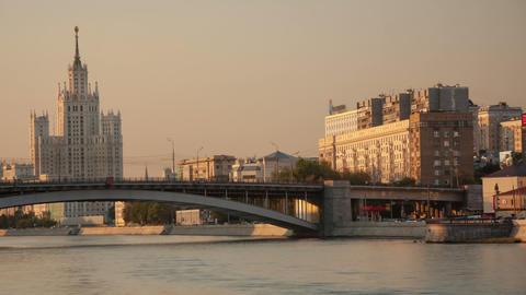 Kosmodamianskaya embankment walk hyperlapse Stock Video Footage