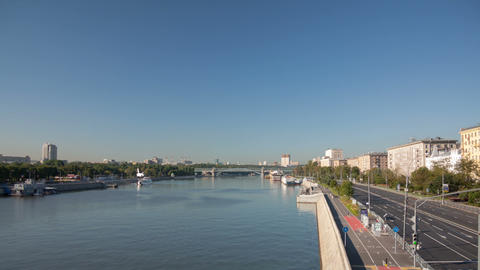 Krimsky bridge walking hyperlapse Stock Video Footage