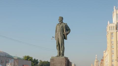 Maykovsky monument hyperlapse Stock Video Footage