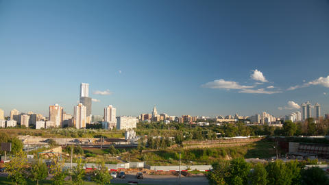 Moscow city landscape timelapse 4K Stock Video Footage