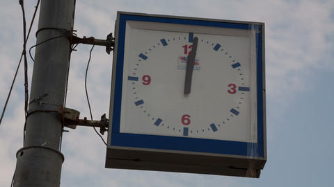 Street clock timelapse Stock Video Footage