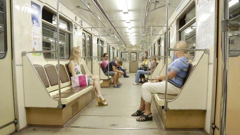 Subway train timelapse Footage