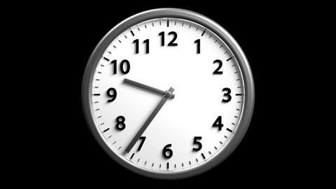 3D Clock 01 stock footage