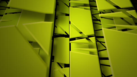 green pieces Stock Video Footage