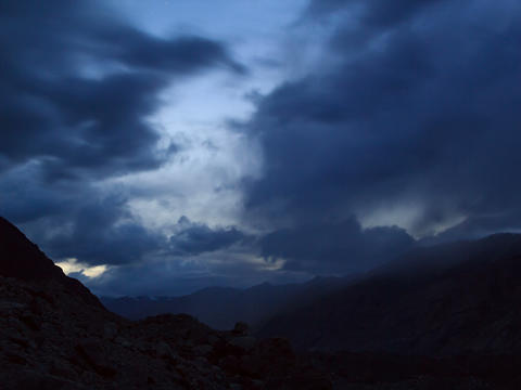 Sunset in the mountains.Time Lapse. 4x3 Stock Video Footage
