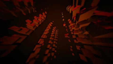 orange cubes array Stock Video Footage
