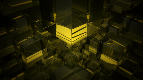yellow glass array Animation