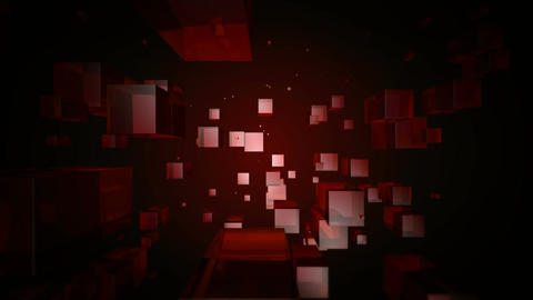 dancing red glass Stock Video Footage