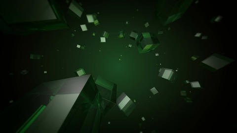 green cube space Animation