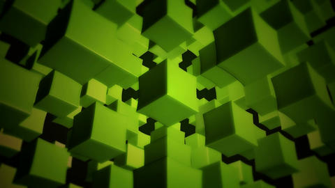 green box array Stock Video Footage