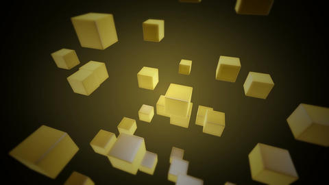 yellow retro boxes Animation