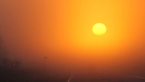 car at sun, sunrise Footage
