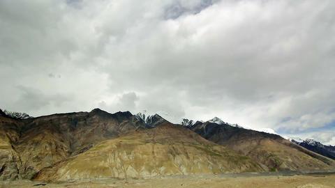 Clouds over glacier Inylchek. Kirgystan, central T Footage