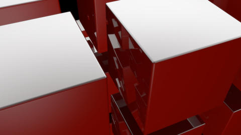 red cube with alpha Stock Video Footage
