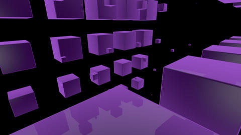 purple cube with alpha Stock Video Footage