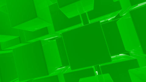 green box with alpha Stock Video Footage