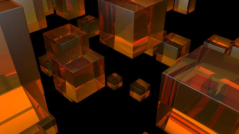 orange glass with alpha Stock Video Footage