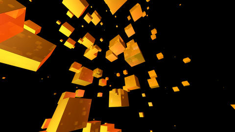yellow cube with alpha Stock Video Footage