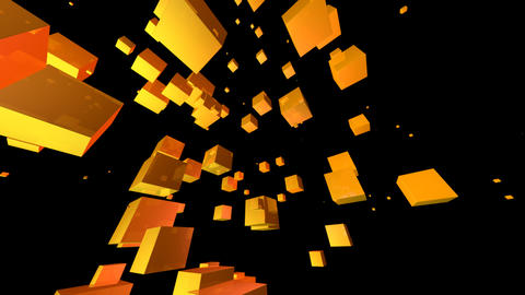 yellow cube with alpha Animation