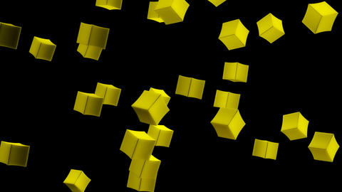 yellow box with alpha Stock Video Footage