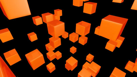 orange array with alpha Stock Video Footage